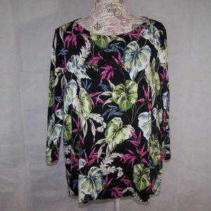 J. Jill Shirt Top Wearever Collection XL Stretch